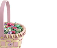 Easter Basket Border Royalty Free Stock Photography