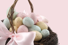 Easter basket and bow Stock Photography