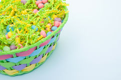 Easter basket with candy Stock Images