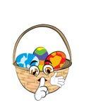 Easter basket cartoon Stock Photos