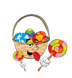 Easter basket cartoon Royalty Free Stock Images