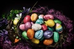 Easter Basket Chocolate Bunny Royalty Free Stock Image