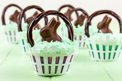 Easter Basket Cupcakes Royalty Free Stock Images