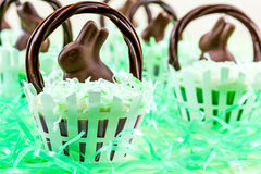 Easter Basket Cupcakes Stock Image