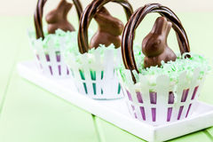 Easter Basket Cupcakes Royalty Free Stock Photography