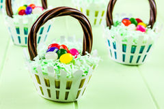 Easter Basket Cupcakes Royalty Free Stock Image