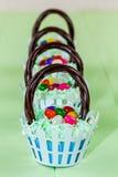 Easter Basket Cupcakes Stock Photos