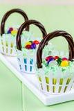Easter Basket Cupcakes Royalty Free Stock Image