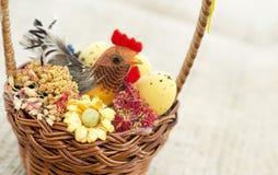 Easter basket decoration Stock Image