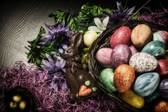 Easter Basket Decorations Stock Image