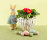 Easter basket display Royalty Free Stock Image