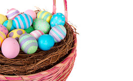 Easter Basket with Easter eggs Royalty Free Stock Photos