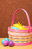Easter Basket and Eggs Royalty Free Stock Photo