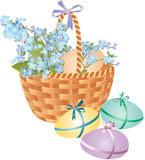 Easter basket Royalty Free Stock Photos
