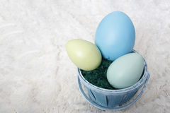 Easter Basket with Eggs Royalty Free Stock Image
