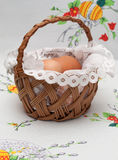 Easter basket with eggs Stock Photography