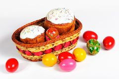 Easter basket filled Royalty Free Stock Photos