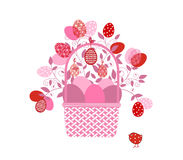Easter Basket flourish Royalty Free Stock Images