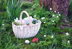 Easter basket with food Stock Image