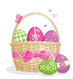 Easter basket illustration Stock Photos