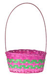 Easter basket isolated Royalty Free Stock Photos