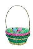 Easter Basket Isolated Royalty Free Stock Image