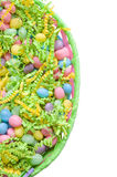 Easter basket with jelly beans Stock Photography