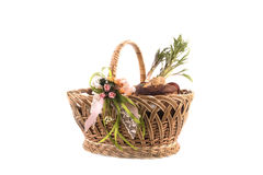 Easter basket meal for sanctify, Ukraine Royalty Free Stock Photos