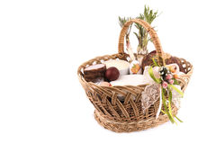 Easter basket meal for sanctify, Ukraine Royalty Free Stock Photography