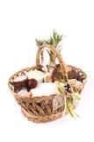 Easter basket meal for sanctify, Ukraine Stock Photography