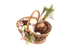 Easter basket meal for sanctify, Ukraine Stock Images