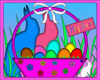 Easter Basket Notecard Greeting Gift Card Stock Photos
