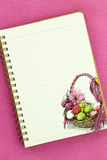 Easter recipe book Royalty Free Stock Photography