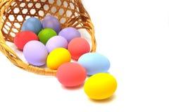 Easter basket spilling Royalty Free Stock Images