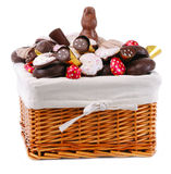 Easter basket with sweets Stock Image