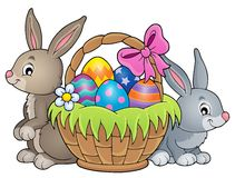 Easter basket theme image 3 Royalty Free Stock Images