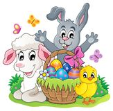 Easter basket theme image 5 Royalty Free Stock Images