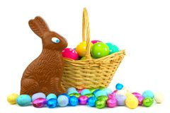 Easter basket and treats Stock Image