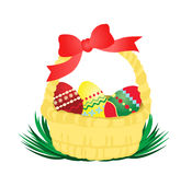 Easter basket vector Stock Photography