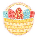 Easter basket on white. Stock Images