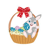 Easter basket width bow Stock Images