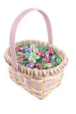 Easter Basket With Path Stock Image