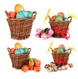 Easter baskets Stock Photos