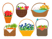 Easter baskets collection Stock Images