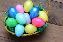 Easter Baskets and Plastic Eggs Stock Image