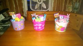 Easter baskets Stock Photos