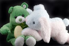 Easter bear and bunny Stock Photography