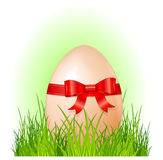 Easter big egg with bow Royalty Free Stock Photos