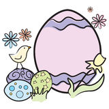 Easter: Big Egg and Chick Royalty Free Stock Photos