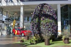Easter big egg from fresh spring flower Royalty Free Stock Image